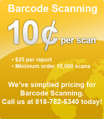 Barcode Scanning Company  ?Coupon Scanning Service Los Angeles